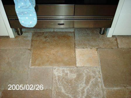 Marble floortilecooker after